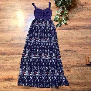 Mudd Tribal Print Maxi Dress
